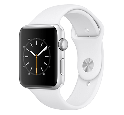 Apple Watch, Series 2, skärm 42 mm Silver-vit
