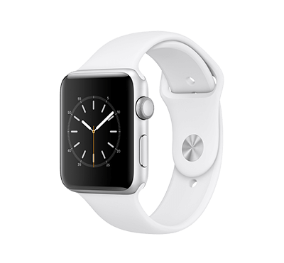 Apple Watch, Series 2, skärm 42 mm Silver-vit - Silver/vit