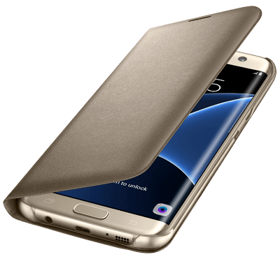 Galaxy S7 Edge LED View Cover Guld - Guld