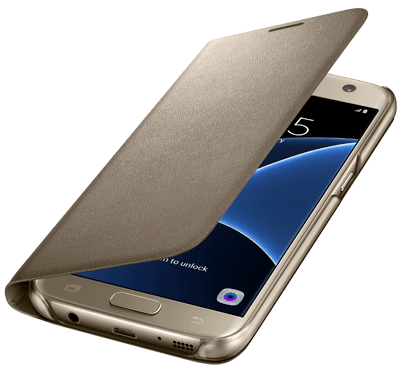 Galaxy S7 LED View Cover - Guld