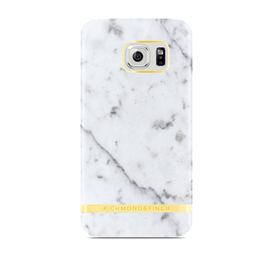 Marble Cover Samsung Galaxy S7 Edge - Vit