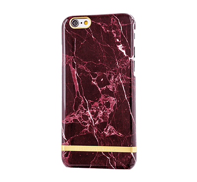 Marble Cover iPhone 6/6s - Röd