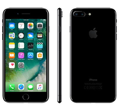 Apple iPhone 7 Plus 128GB - Gagatsvart
