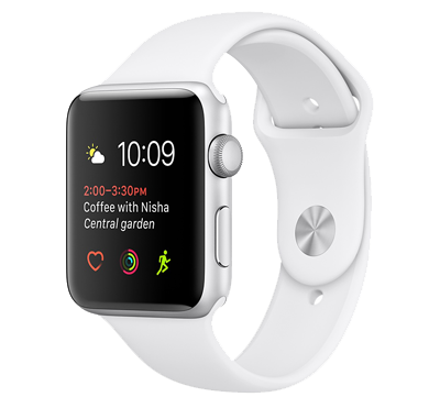 Apple Watch Series 1 42 mm (skärm) Silver-vit