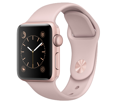 Apple Watch Series 2 38 mm (skärm) Rosaguld-Rosa - Rosaguld/Rosa