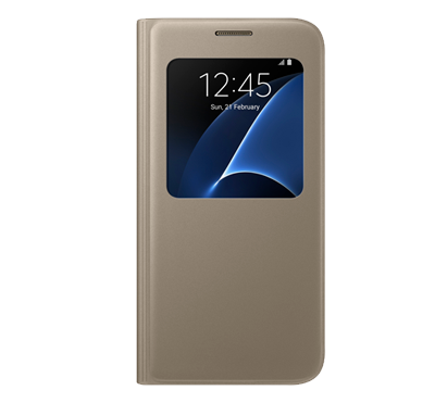 Galaxy S7 View Cover - Guld