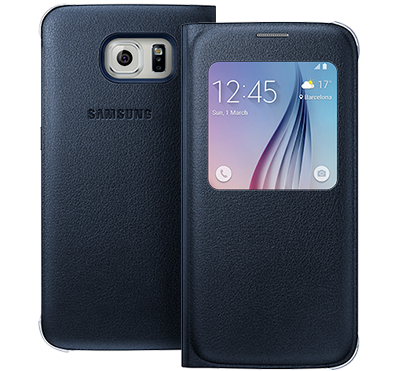 View Cover Galaxy S6 - Svart