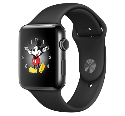Apple Watch, Series 2, skärm 42 mm med safirglas