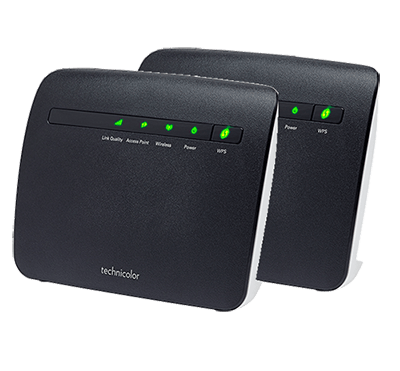 2 x Wifi-repeater Technicolor TG234